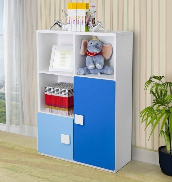 book shelves with cabinet